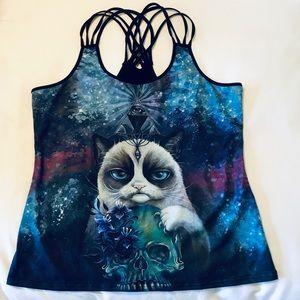 Tops - Crazy cat workout top XL